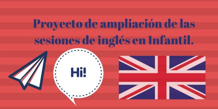 Proyecto de ampliación de las sesiones de inglés en Infantil.