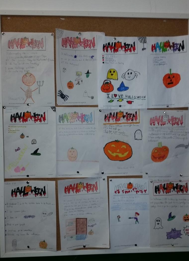 Trabajos inglés Halloween