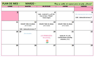 Plan marzo