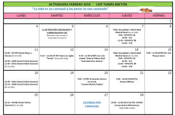 Plan febrero