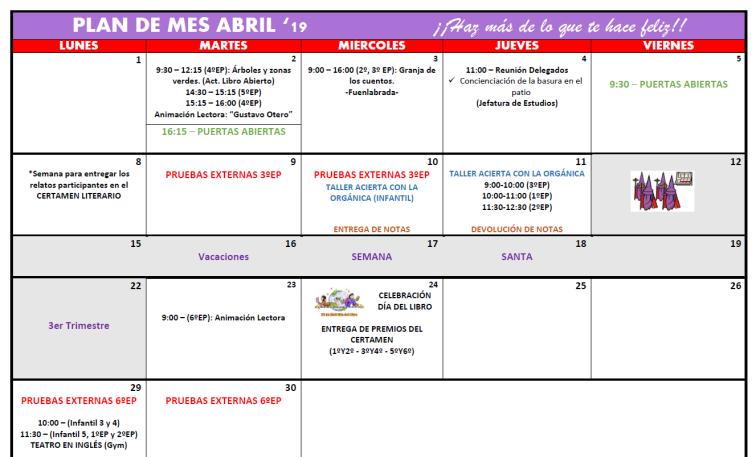 Plan abril
