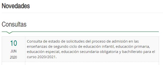 consulta proc.admisiob